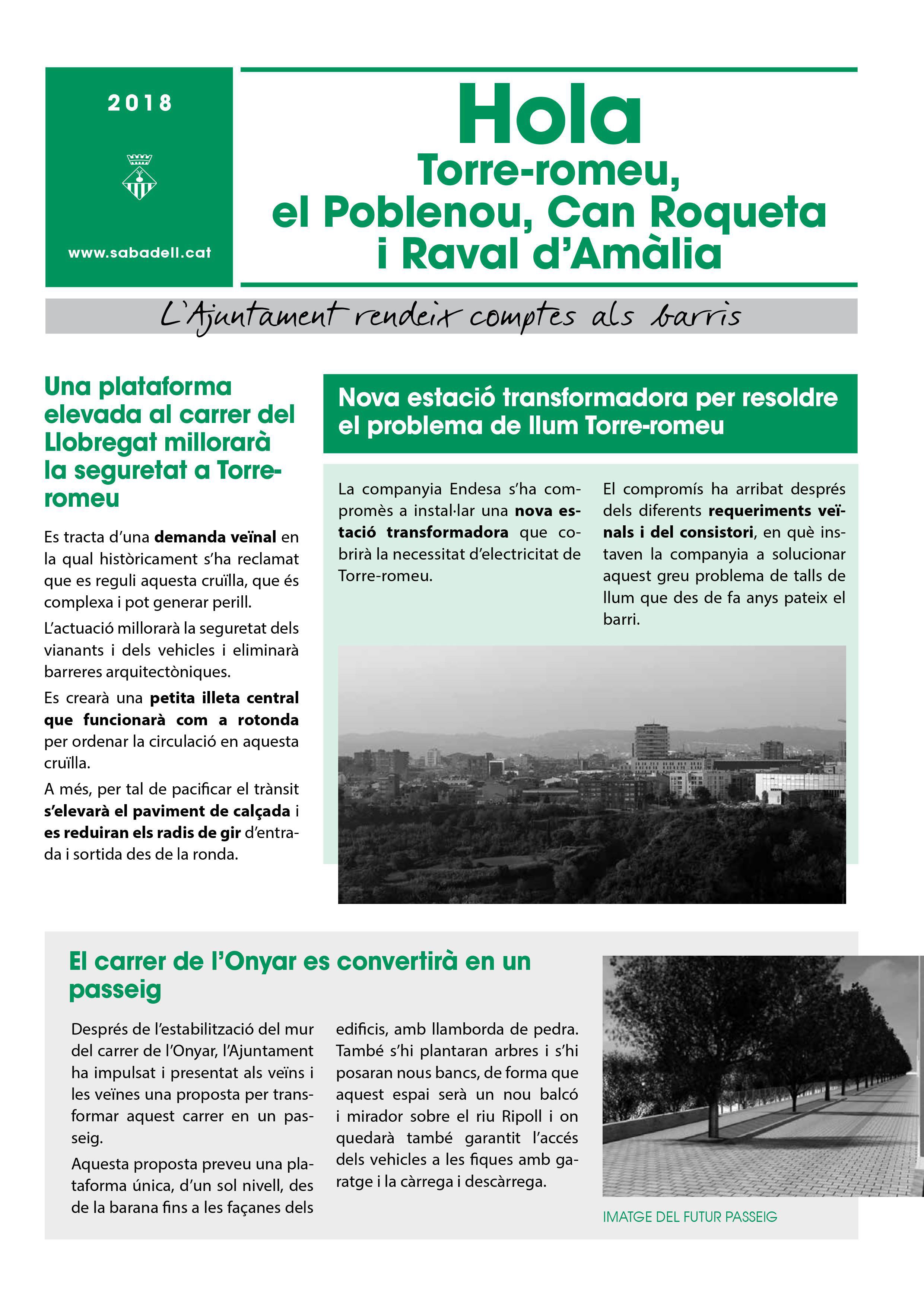 Torre-romeu, el Poblenou, Can Roqueta i Raval d'Amàlia