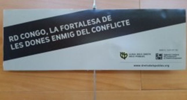 Fotografia de l'activitat RD CONGO, LA FORTALESA DE LES DONES ENMIG DEL CONFLICTE. EXPOSICIÓ