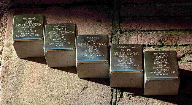 Fotografia de l'activitat 36 NOVES LLAMBORDES STOLPERSTEINE. LES PEDRES DE LA MEMÒRIA DELS DEPORTATS SABADELLENCS ALS CAMPS NAZIS. EXPOSICIÓ
