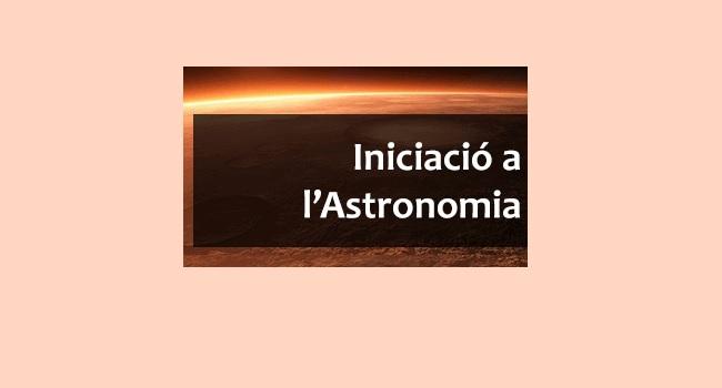 Fotografia de l'activitat INICIACIÓ A L'ASTRONOMIA. CURS