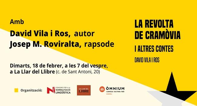 Fotografia de l'activitat LA REVOLTA DE CRAMÒVIA I ALTRES CONTES. PRESENTACIÓ DE LLIBRE