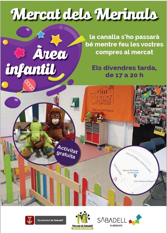 Fotografia de l'activitat ÀREA INFANTIL MERCAT DELS MERINALS