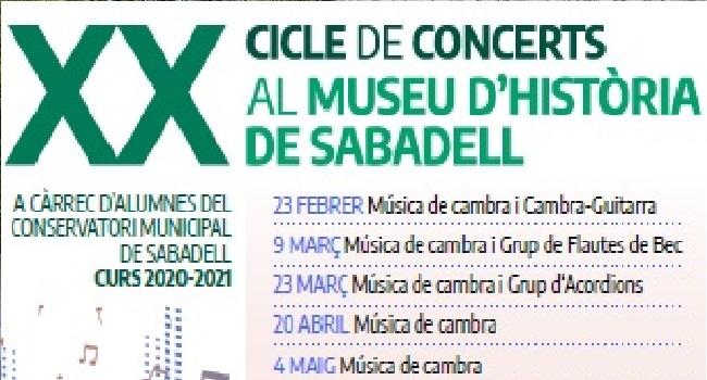 Fotografia de l'activitat XX CICLE DE CONCERTS AL MUSEU D'HISTÒRIA