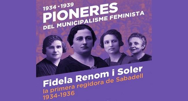 Fotografia de l'activitat 1934-1939. PIONERES DEL MUNICIPALISME FEMINISTA / FIDELA RENOM I SOLER, LA PRIMERA REGIDORA DE SABAD