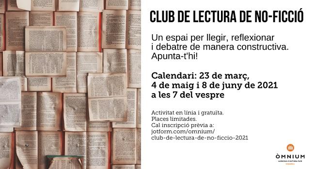 Fotografia de l'activitat CLUB DE LECTURA DE NO-FICCIÓ