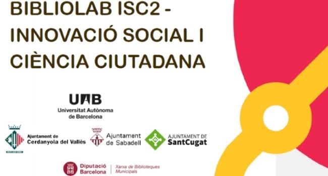 Fotografia de l'activitat ISC2 BIBLIOLAB D'INNOVACIÓ SOCIAL I CIÈNCIA CIUTADANA. TALLER